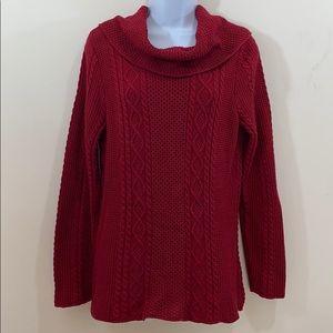 Jeanne Pierre Long Sleeve Cowl Neck Sweater Sz L